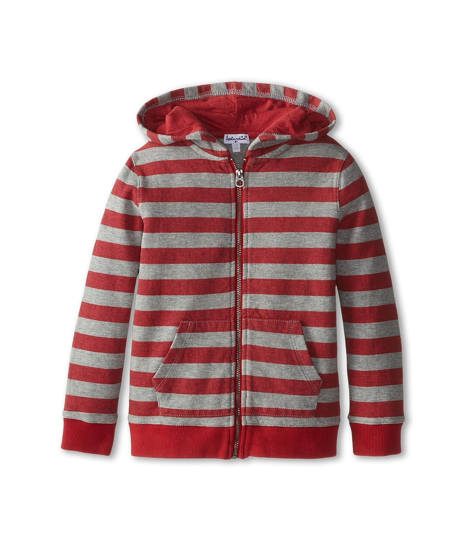 Splendid Littles - Active Stripe Hoodie (Toddler) (Red) Boy's Sweatshirt