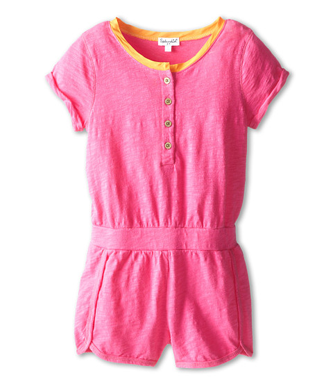 Splendid Littles - Textured Solid Romper (Little Kids) (Hot Pink) Girl's Jumpsuit & Rompers One Piece