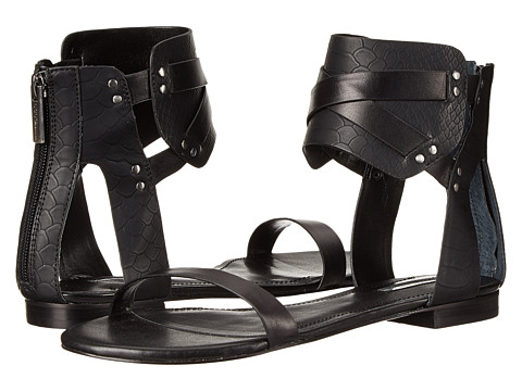 BCBGeneration - Braylin (Black Soft Nappa/Matte Snake P) Women's Sandals