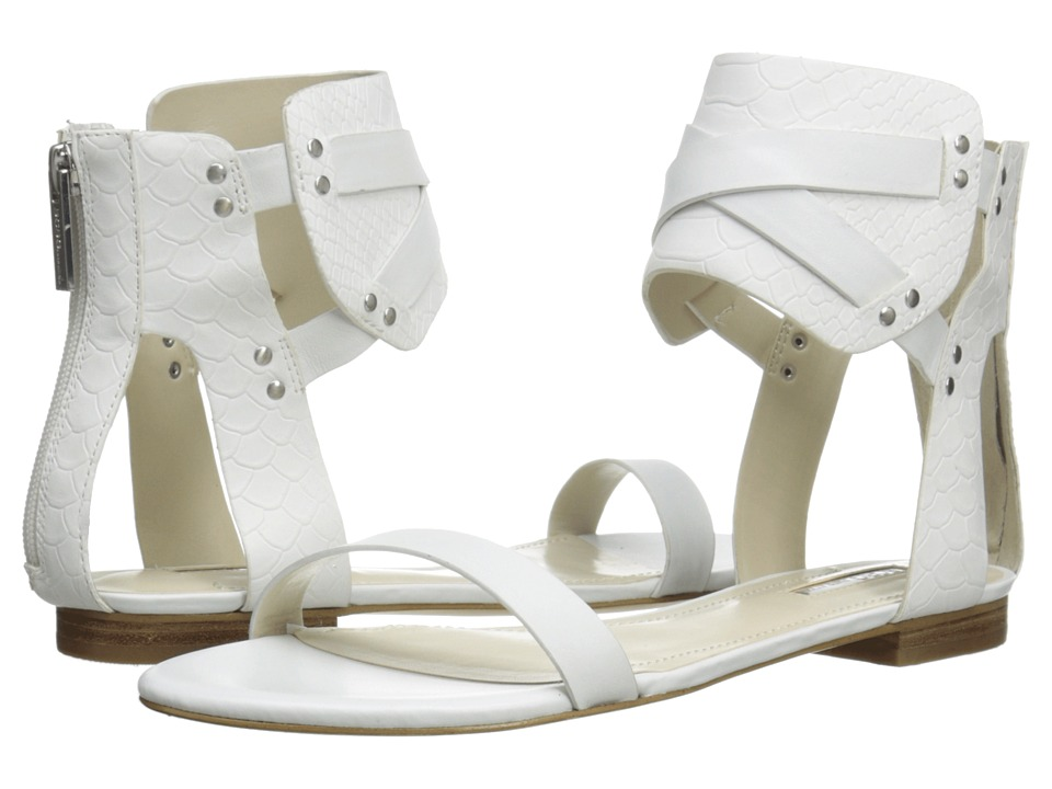BCBGeneration - Braylin (White Soft Nappa/Matte Snake P) Women's Sandals