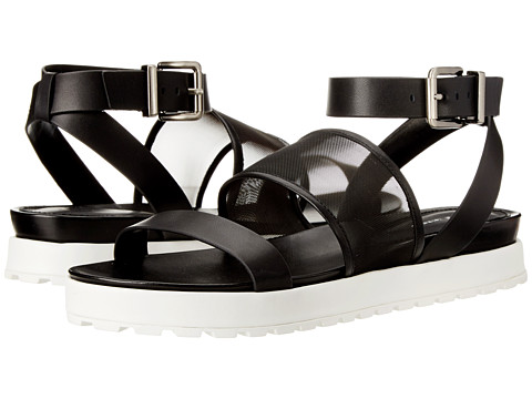 BCBGeneration - Ellis (Black Leather/Mesh) Women's Sandals