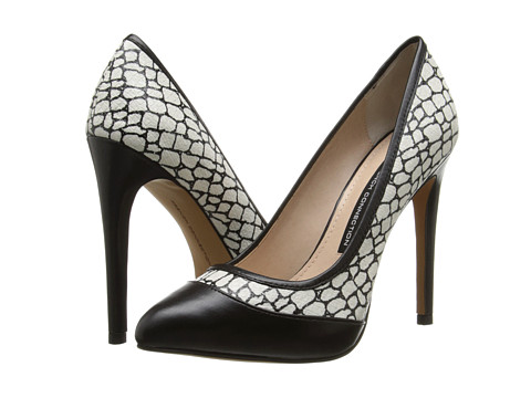 French Connection - Camleigh (Black/White) High Heels