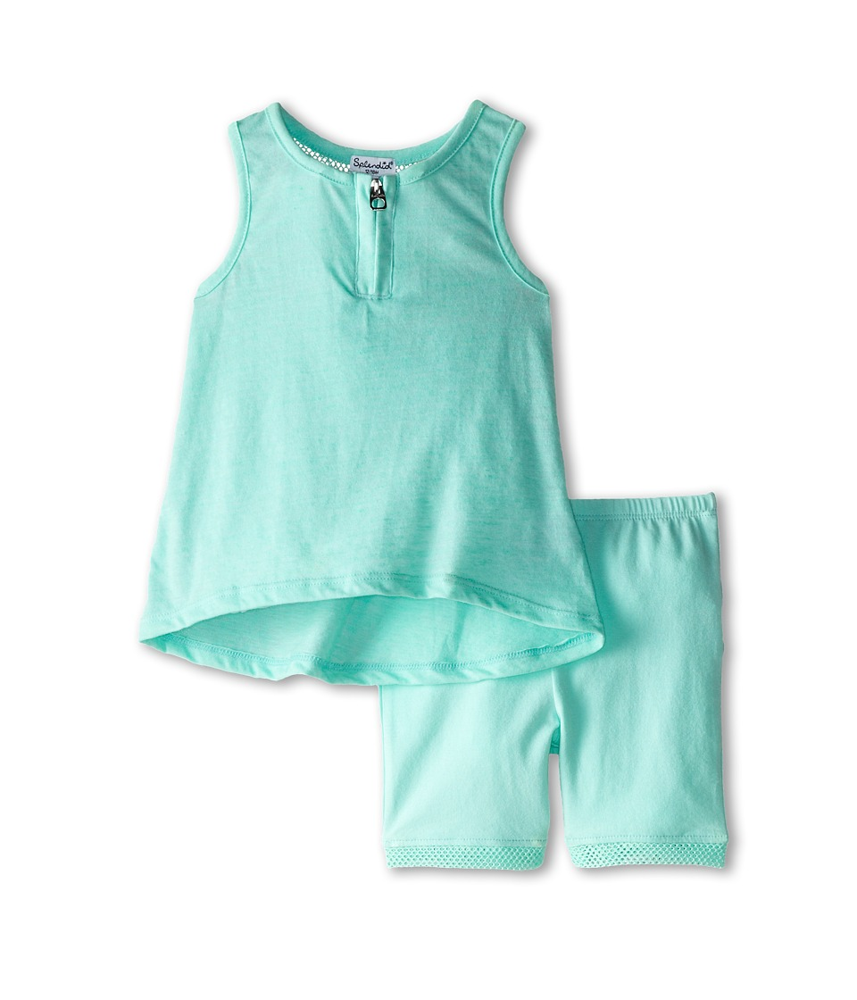 Splendid Littles - Textured Solid Tank Set (Infant) (Light Green) Girl's Active Sets