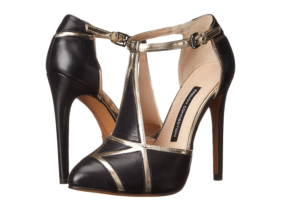 French Connection - Candice (Black/Gold) Women's Shoes