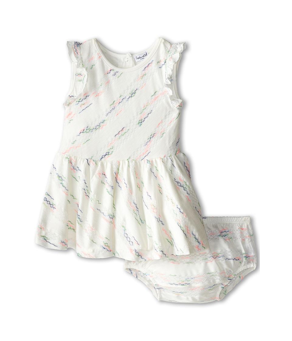 Splendid Littles - Fashion Stripe Dress (Infant) (White) Girl's Dress
