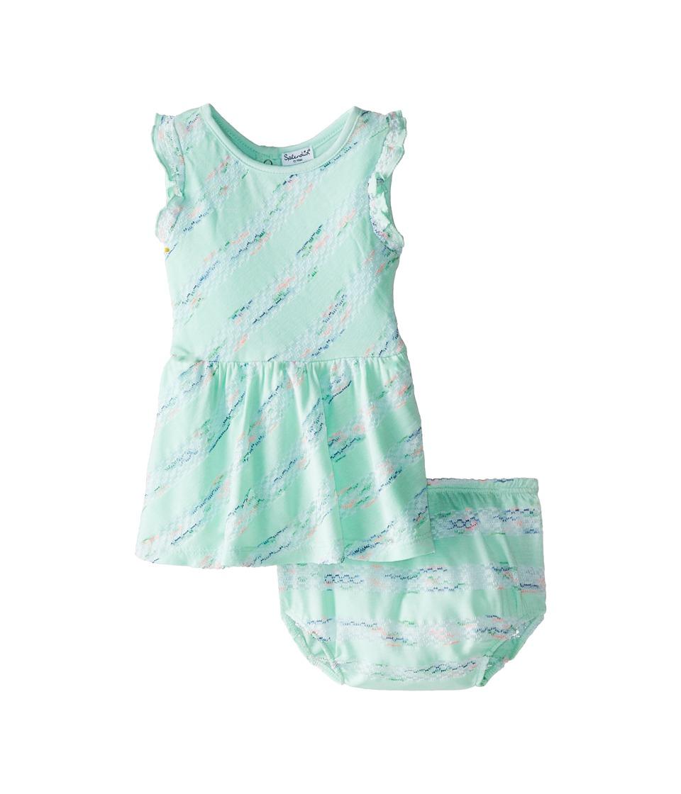 Splendid Littles - Fashion Stripe Dress (Infant) (Light Green) Girl's Dress
