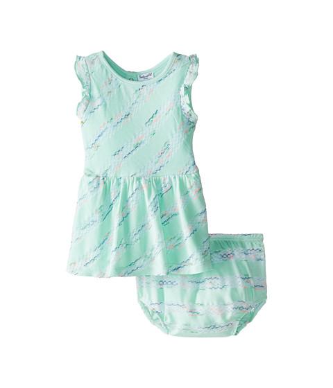 Splendid Littles - Fashion Stripe Dress (Infant) (Light Green) Girl