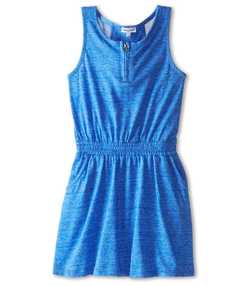 Splendid Littles - Textured Solid Dress (Little Kids) (Blue) Girl's Dress