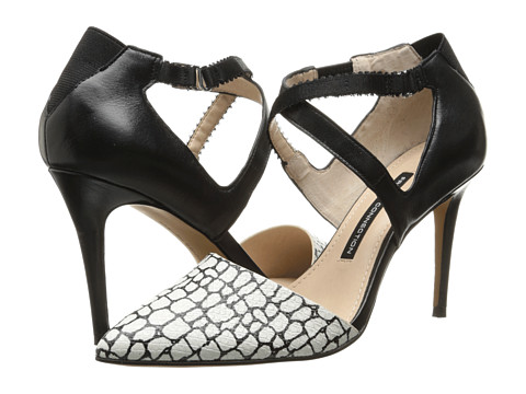 French Connection - Elma (White/Black/Black) High Heels