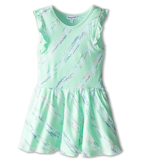 Splendid Littles - Fashion Stripe Dress (Toddler) (Light Green) Girl's Dress