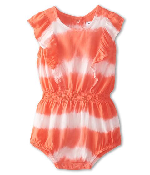 Splendid Littles - Tie-Dye Stripe Romper (Infant) (Coral) Girl's Jumpsuit & Rompers One Piece