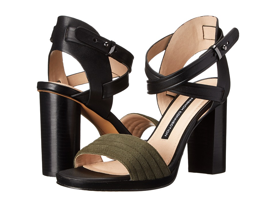 French Connection - Tola (Gator Green/Black) High Heels