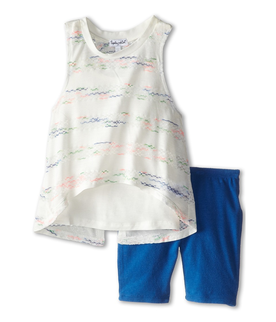 Splendid Littles - Fashion Stripe Set (Toddler) (White) Girl's Active Sets