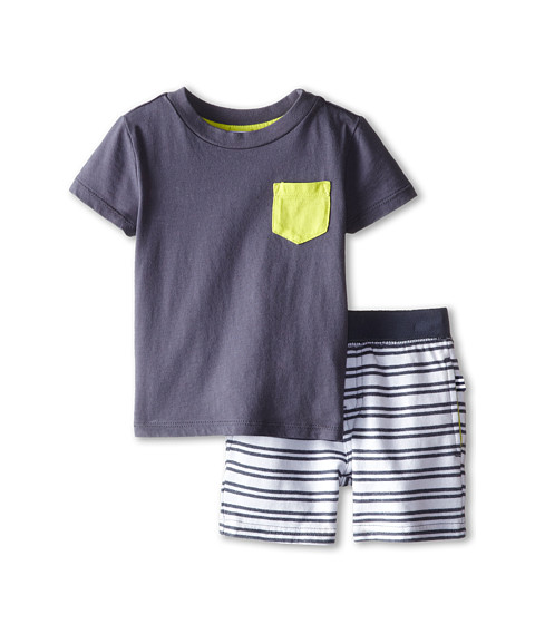 Splendid Littles - Active French Terry Short Set (Infant) (Dark Grey) Boy's Active Sets