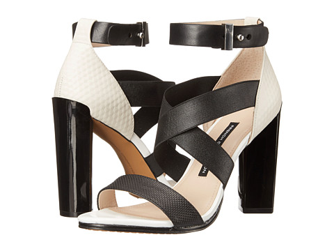 French Connection - Melody (Black/Black/Black/Summer White) High Heels