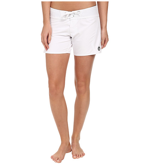 Volcom - Simply Solid 5 Boardshort (White) Women's Swimwear