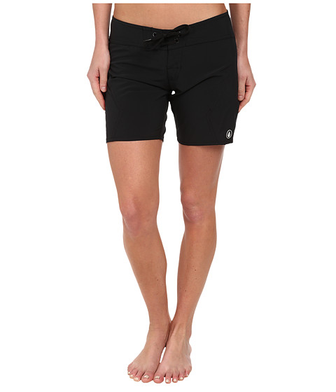 Volcom - Simply Solid 7 Boardshort (Black) Women