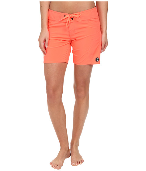 Volcom - Simply Solid 7 Boardshort (Electric Coral) Women's Swimwear