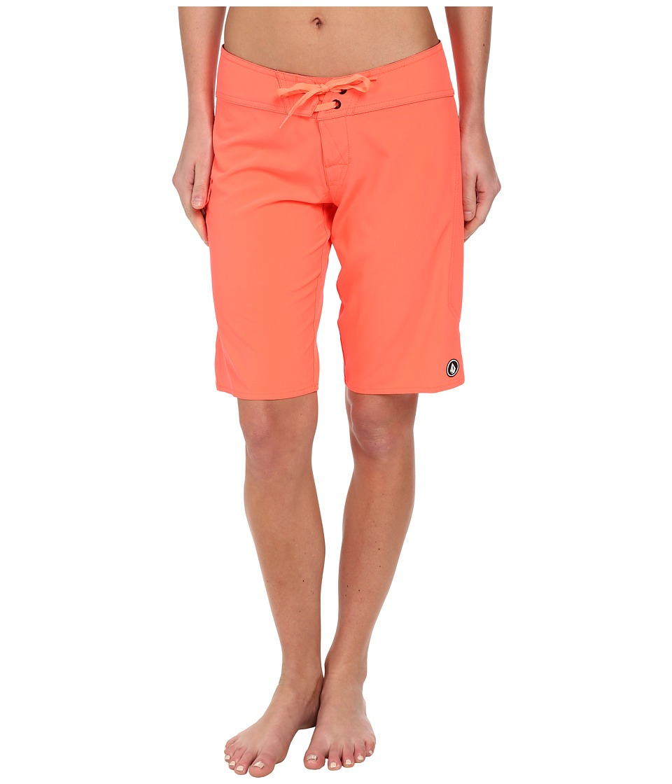 Volcom - Simply Solid 11 Boardshort (Electric Coral) Women's Swimwear