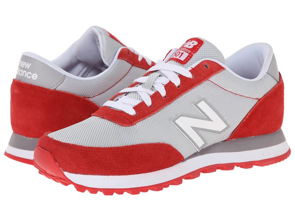 New Balance Classics - WL501 (Grey/Red) Women's Classic Shoes