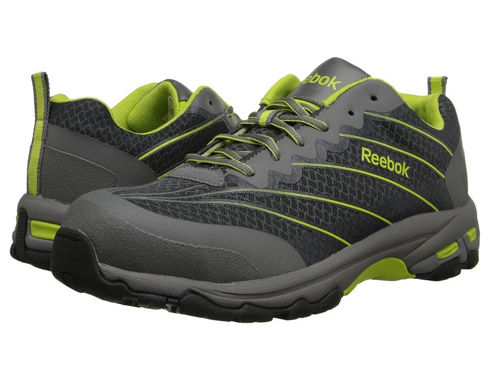 Reebok Work - Heckler (Grey/Lime) Men's Work Boots