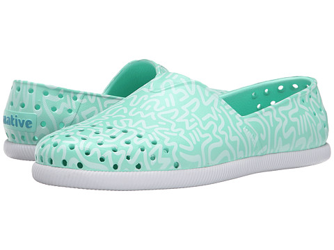 Native Shoes - Verona (Glass Green/Shell White/Doodle Print) Shoes