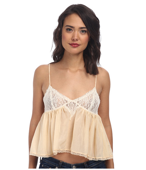 Free People - Cami Sweet Lace Top (Light Peach) Women's Sleeveless