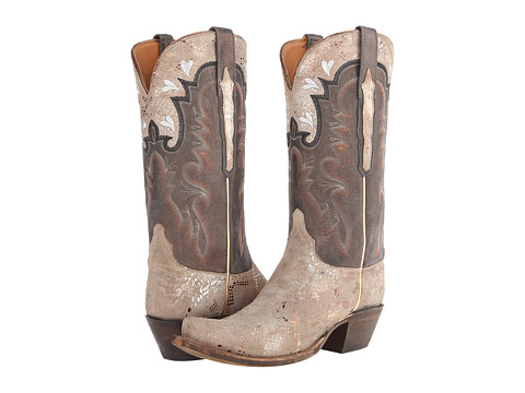 Lucchese - GC9202.S54 (Stone Python Print) Cowboy Boots