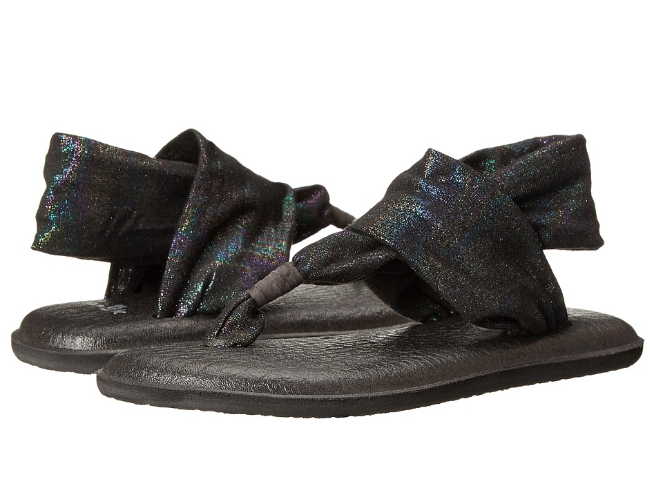 Sanuk Kids - Yoga Sling Bling (Little Kid/Big Kid) (Black Rainbow) Girls Shoes