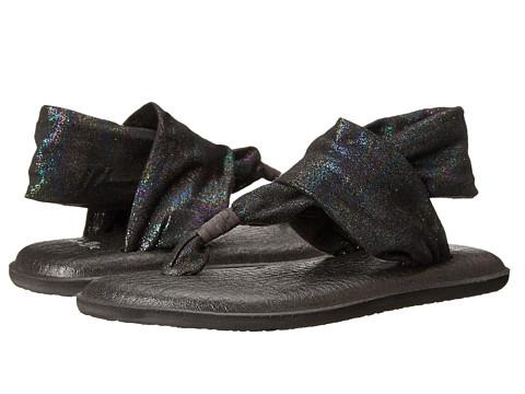 Sanuk Kids - Yoga Sling Bling (Little Kid/Big Kid) (Black Rainbow) Girls Shoes