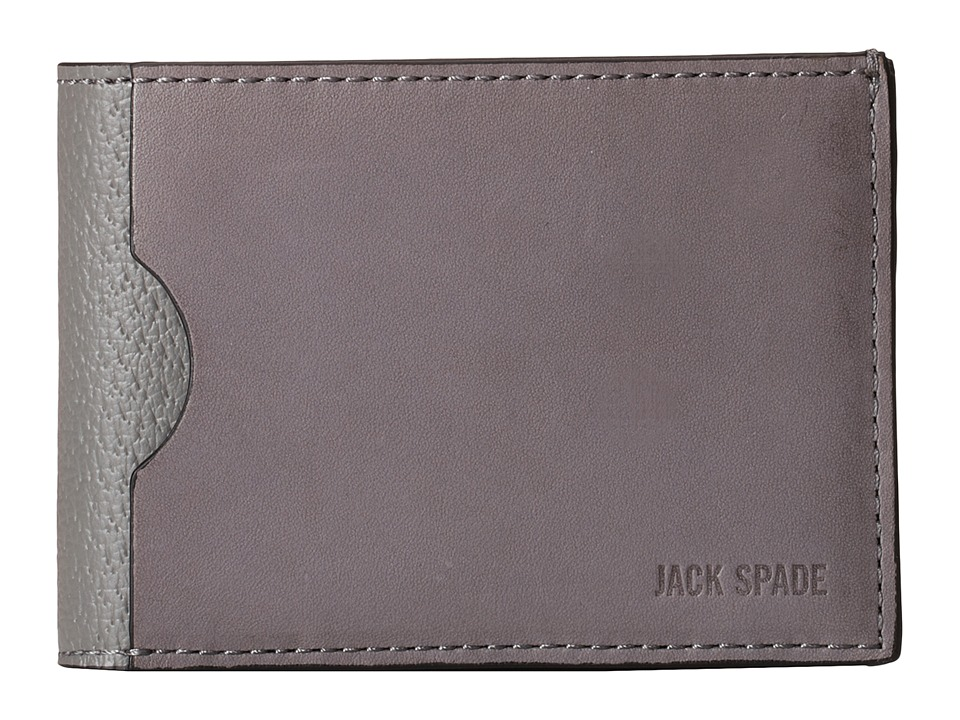 Jack Spade - Grant Leather Index Wallet (Charcoal) Wallet Handbags