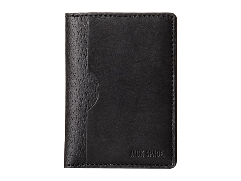 Jack Spade - Grant Leather Vertical Flap Wallet (Black) Wallet Handbags