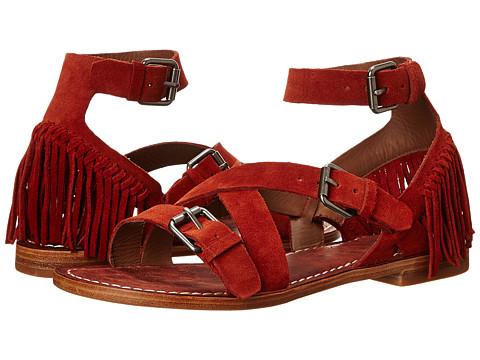Belle by Sigerson Morrison - Allegra (Dark Red Suede) Women's Toe Open Shoes