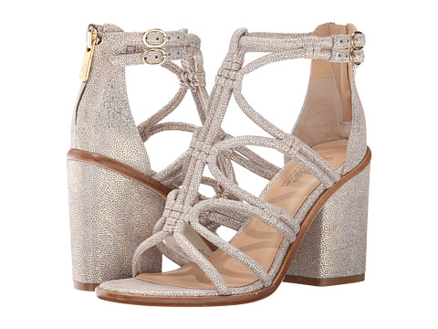 Belle by Sigerson Morrison - Basma (Taupe Metallic Leather) Women's Shoes