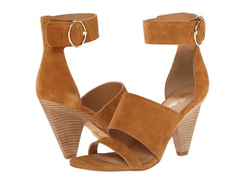 Belle by Sigerson Morrison - Forum 3 (Gold Sattel Suede) Women's Toe Open Shoes