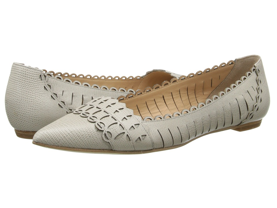 Belle by Sigerson Morrison - Seini (Light Grey Leather) Women's Slip on Shoes