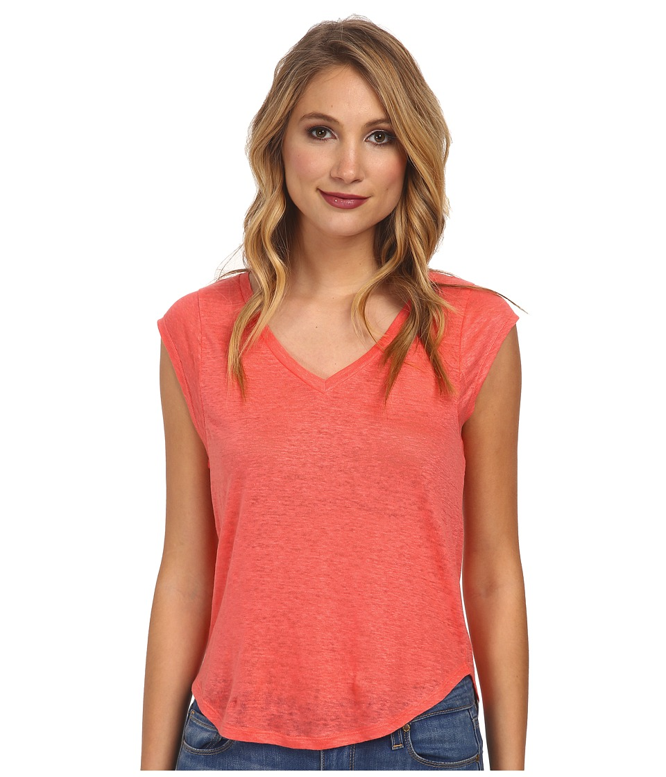 C&C California - Linen Jersey Muscle Tee (Fuchsia Pink) Women's Sleeveless
