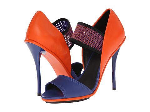 L.A.M.B. - Barrie (Blue/Dark Coral) High Heels