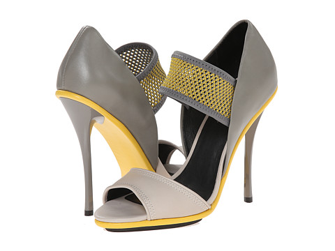 L.A.M.B. - Barrie (Grey/Yellow) High Heels