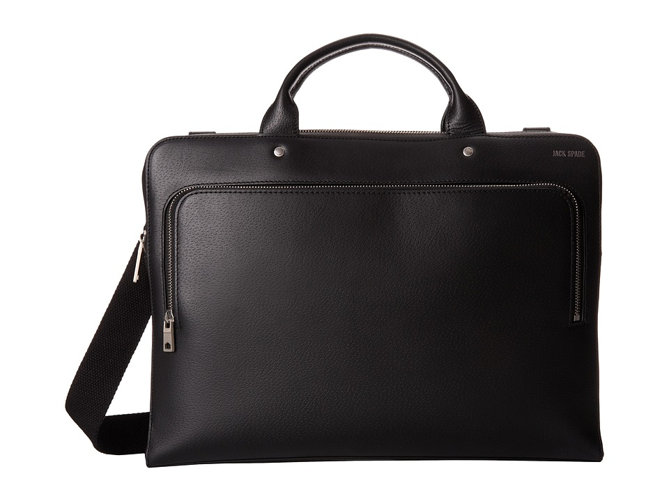 Jack Spade - Grant Leather File Brief (Black) Briefcase Bags