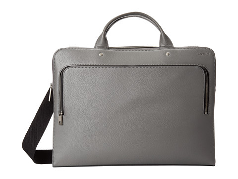 Jack Spade - Grant Leather File Brief (Charcoal) Briefcase Bags