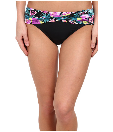 Bleu Rod Beattie - Island Time Sarong Midster Bottom (Black/Orchid) Women's Swimwear