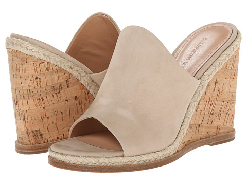 Sigerson Morrison - Vala (Light Taupe Suede) Women's Wedge Shoes
