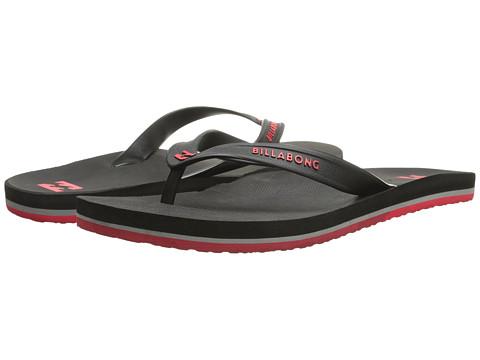 Billabong - All Day Solid Sandal (Black/Red) Men's Sandals