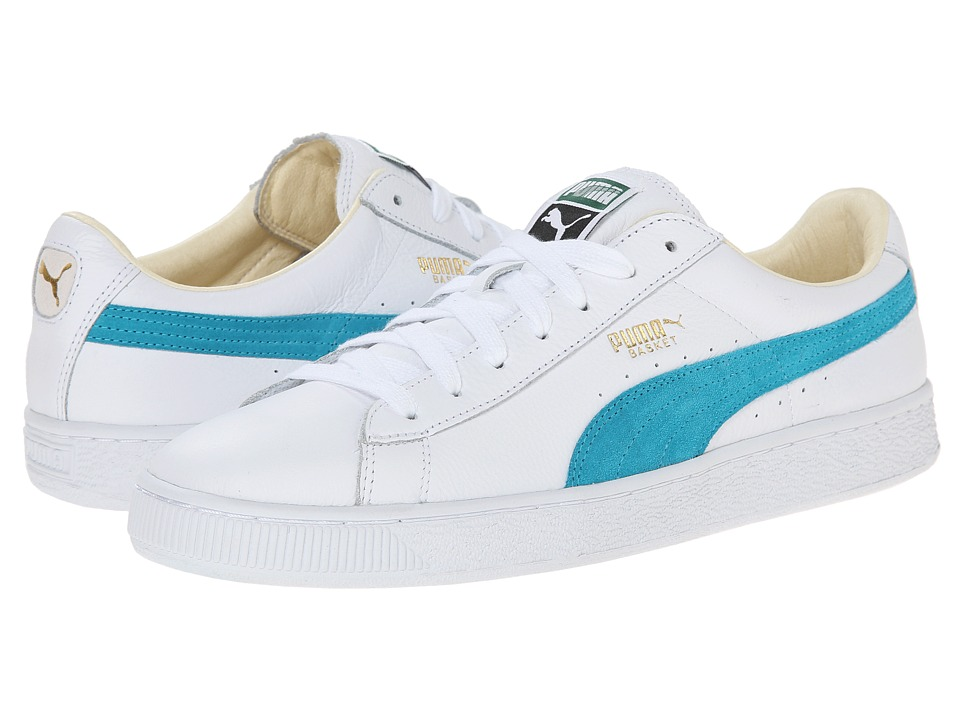 PUMA - Basket Classic (White/Capri Breeze) Men