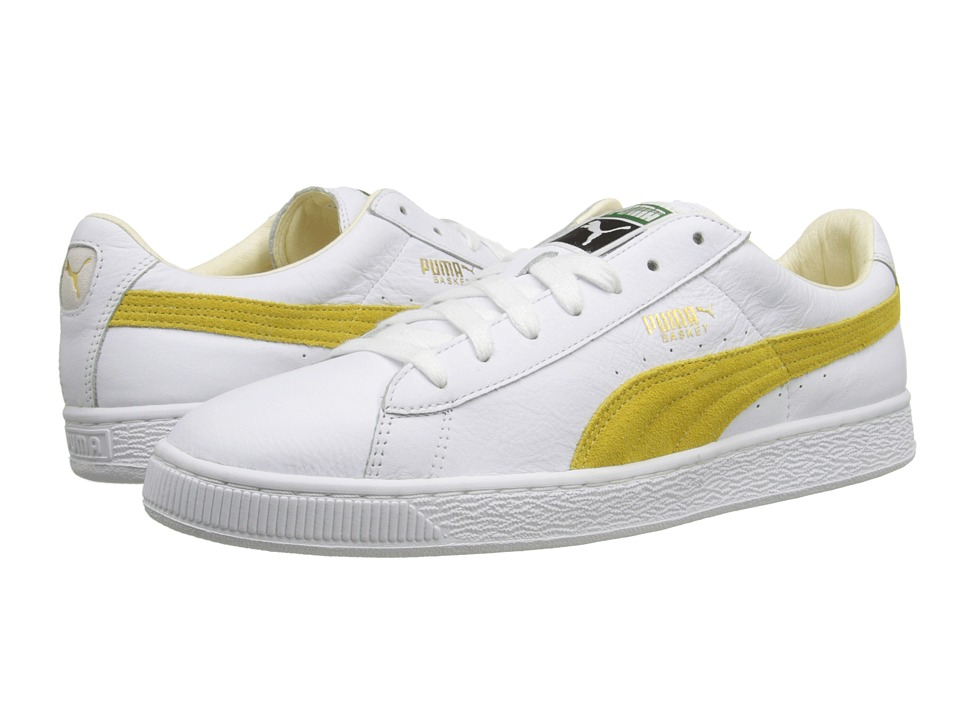 PUMA - Basket Classic (White/Sunshine) Men