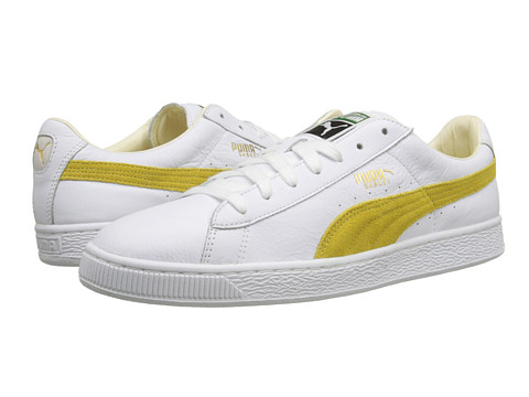 PUMA - Basket Classic (White/Sunshine) Men's Shoes