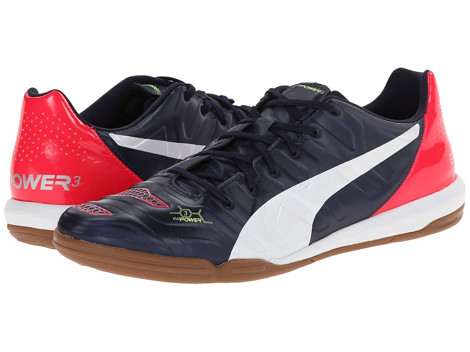 PUMA - evoPower 3.2 IT (Peacoat/White/Bright Plasma) Men's Shoes