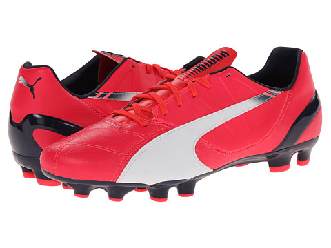 PUMA - evoSpeed 3.3 FG (Bright Plasma/White/Peacoat) Men's Shoes