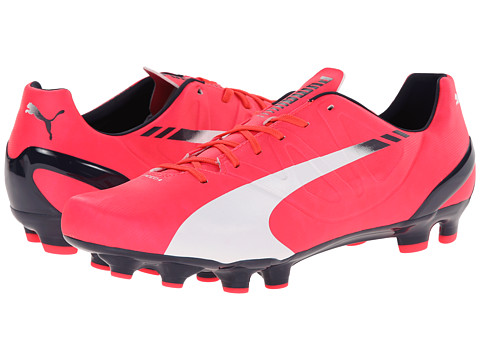 PUMA - evo Speed 4.3 FG (Bright Plasma/White/Peacoat) Men's Shoes
